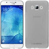 Silikon Hülle Galaxy A8 (2015) S-Style clear + 2 Schutzfolien