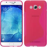 Silikon Hülle Galaxy A8 S-Style pink