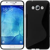 Silikon Hülle Galaxy A8 (2015) S-Style schwarz Case