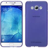 Silikon Hülle Galaxy A8 (2015) transparent lila + 2 Schutzfolien