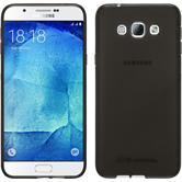 Silikon Hülle Galaxy A8 (2015) transparent schwarz + 2 Schutzfolien