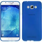 Silikon Hülle Galaxy A8 (2015) X-Style blau + 2 Schutzfolien