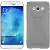 Silikon Hülle Galaxy A8 (2015) X-Style clear + 2 Schutzfolien