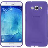 Silikon Hülle Galaxy A8 (2015) X-Style lila + 2 Schutzfolien