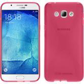 Silikon Hülle Galaxy A8 (2015) X-Style pink + 2 Schutzfolien