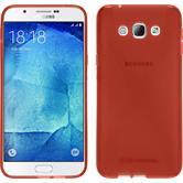 Silikon Hülle Galaxy A8 (2015) X-Style rot + 2 Schutzfolien