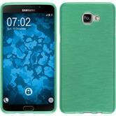 Silikon Hülle Galaxy A9 brushed grün Case