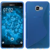 Silikon Hülle Galaxy A9 S-Style blau Case