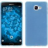 Silikon Hülle Galaxy A9 Iced hellblau + 2 Schutzfolien