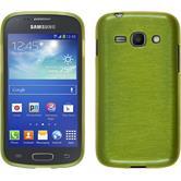 Silikon Hülle Galaxy Ace 3 brushed pastellgrün