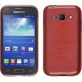 Silikon Hülle Galaxy Ace 3 brushed rosa + 2 Schutzfolien