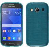 Silicone Case for Samsung Galaxy Ace 4 brushed blue