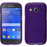 Silicone Case for Samsung Galaxy Ace 4 brushed purple