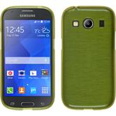 Silicone Case for Samsung Galaxy Ace 4 brushed pastel green