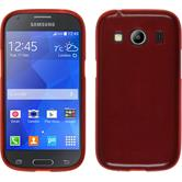 Silicone Case for Samsung Galaxy Ace 4 brushed red