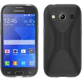Silikon Hülle Galaxy Ace 4 X-Style grau