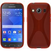 Silikon Hülle Galaxy Ace 4 X-Style rot