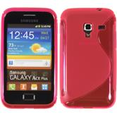 Silicone Case for Samsung Galaxy Ace Plus S-Style hot pink
