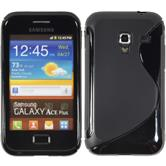 Silicone Case for Samsung Galaxy Ace Plus S-Style black