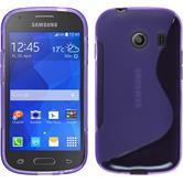 Silikon Hülle Galaxy Ace Style S-Style lila + 2 Schutzfolien