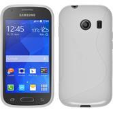 Silikon Hülle Galaxy Ace Style S-Style weiß