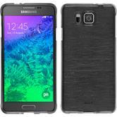 Silikonhülle für Samsung Galaxy Alpha brushed silber