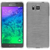 Silikonhülle für Samsung Galaxy Alpha brushed weiß