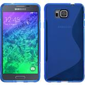 Silikon Hülle Galaxy Alpha S-Style blau