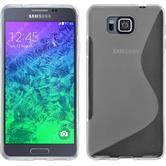 Silikon Hülle Galaxy Alpha S-Style clear + 2 Schutzfolien