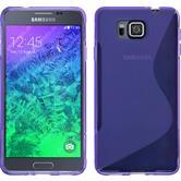 Silikon Hülle Galaxy Alpha S-Style lila + 2 Schutzfolien