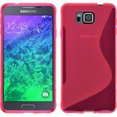Silikon Hülle Galaxy Alpha S-Style pink