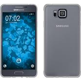 Silikon Hülle Galaxy Alpha Slimcase clear + 2 Schutzfolien