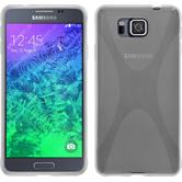 Silikon Hülle Galaxy Alpha X-Style clear + 2 Schutzfolien