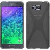 Silikonhülle für Samsung Galaxy Alpha X-Style grau