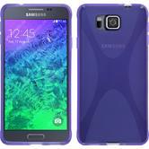 Silikon Hülle Galaxy Alpha X-Style lila + 2 Schutzfolien