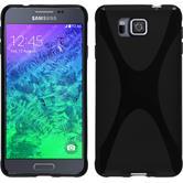 Silikon Hülle Galaxy Alpha X-Style schwarz