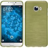 Silikon Hülle Galaxy C5 brushed pastellgrün + 2 Schutzfolien