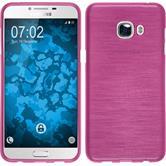 Silikon Hülle Galaxy C5 brushed pink + 2 Schutzfolien