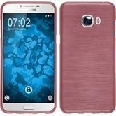 Silikon Hülle Galaxy C5 brushed rosa + 2 Schutzfolien