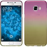 Silikon Hülle Galaxy C5 Ombrè Design:01 + 2 Schutzfolien