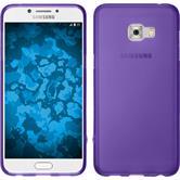Silikon Hülle Galaxy C5 Pro matt lila + 2 Schutzfolien
