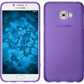Silikon Hülle Galaxy C7 Pro matt lila + 2 Schutzfolien