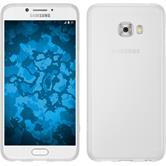 Silikon Hülle Galaxy C7 Pro matt weiß + 2 Schutzfolien