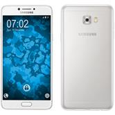 Silikon Hülle Galaxy C7 Pro Slimcase clear + 2 Schutzfolien