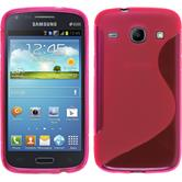 Silicone Case for Samsung Galaxy Core S-Style hot pink