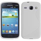 Silikon Hülle Galaxy Core S-Style weiß