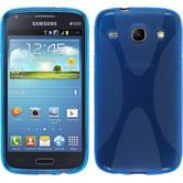Silikonhülle für Samsung Galaxy Core X-Style blau