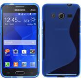 Silikon Hülle Galaxy Core 2 S-Style blau