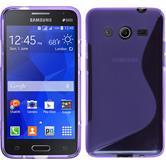 Silikon Hülle Galaxy Core 2 S-Style lila + 2 Schutzfolien
