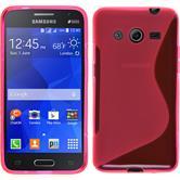 Silikon Hülle Galaxy Core 2 S-Style pink